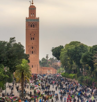 Guided city excursion in Medina of Marrakech